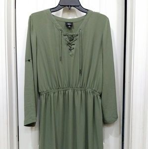 Mossimo lace up dress